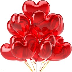 Heart Shape Balloons   in Chicago at Crystal Flower Shop