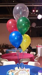 Five Balloon Centerpiece in Chicago at Crystal Flower Shop