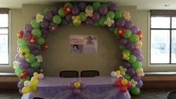 Balloon Arch with Flowers in Chicago at Crystal Flower Shop