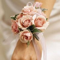 Mini Pink Roses Corsage in Chicago at Crystal Flower Shop