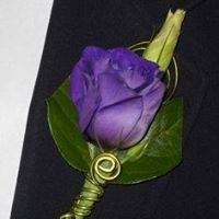 Purple Lisianthus Boutonniere in Chicago at Crystal Flower Shop