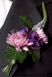 Nottingham Boutonniere in Chicago at Crystal Flower Shop