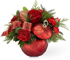 The FTD Christmas Magic Bouquet in Chicago at Crystal Flower Shop