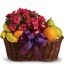 Fruits and Blooms Basket in Chicago at Crystal Flower Shop