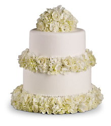 Sweet White Cake Decoration in Chicago at Crystal Flower Shop