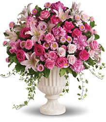 Passionate Pink Garden Arrangement in Chicago at Crystal Flower Shop