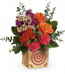 Teleflora's Birthday Sparkle Bouquet in Chicago at Crystal Flower Shop