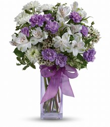 Teleflora's Lavender Laughter Bouquet in Chicago at Crystal Flower Shop