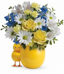 Teleflora's Sweet Peep Bouquet - Baby Blue in Chicago at Crystal Flower Shop