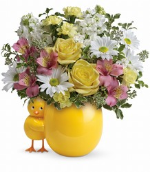 Teleflora's Sweet Peep Bouquet - Baby Pink in Chicago at Crystal Flower Shop
