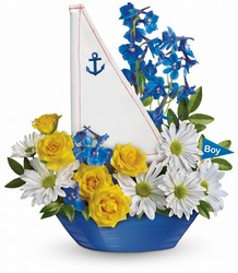 Ahoy It's A Boy Bouquet by Teleflora in Chicago at Crystal Flower Shop