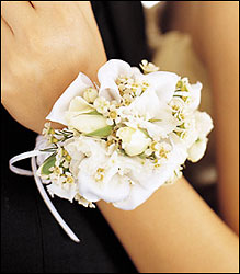 Mixed Whites Wristlet in Chicago at Crystal Flower Shop