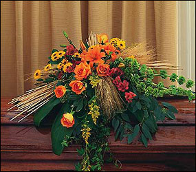 Autumn Faith Casket Spray in Chicago at Crystal Flower Shop
