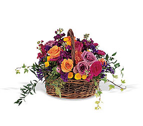 Garden Gathering Basket in Chicago at Crystal Flower Shop