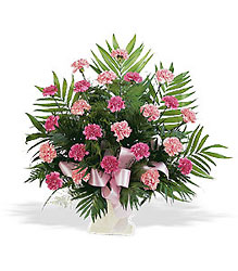 Basket with Pink Carnations in Chicago at Crystal Flower Shop